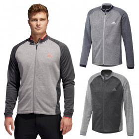 adidas Golf Mens 2020 Midweight Fullzip Textured Soft Stretch Full-Zip Jacket