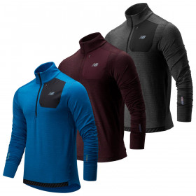 New Balance Mens 2020 Heat 1/4 Zip Lightweight Durable Pullover Sweater