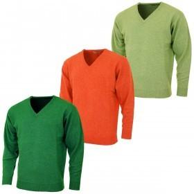 Proquip Mens V Neck Lambswool Water Repellent Golf Sweater