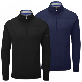 Oscar Jacobson Mens 2020 Anders Breathable Windproof Golf Lined Sweater
