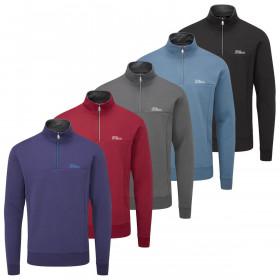 Oscar Jacobson Mens 2020 Hawkes Tour Half Zip Durable Comfort Golf Sweater