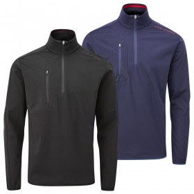 Oscar Jacobson Mens Richmond Midlayer Lightweight Breathable Golf Sweater