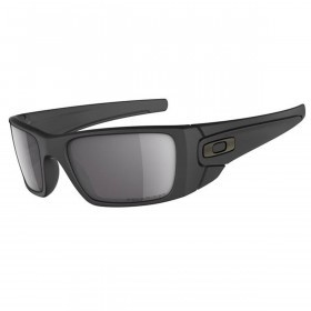 Oakley Sports Mens Fuel Cell Sunglasses - Matte Black/Grey - Polarized