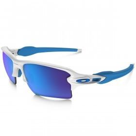 Oakley Sports Mens Flak 2.0 XL Sunglasses - Matte White/Sapphire Iridium