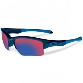 Oakley Sport Quarter Jacket Sunglasses - Polished Navy/Positive Red Iridium