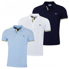 Lacoste Mens 2019 Slim Fit Ribbed Pique Polo Shirt