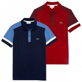 Lacoste Mens PH8743 Stretch Pima Pique Slim Fit Polo Shirt