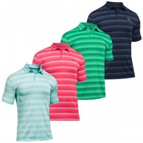 Under Armour Mens UA Coolswitch Bermuda Stripe Golf Polo