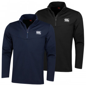 Canterbury Mens 1/4 Zip Fleece AM Navy Breathable Wicking Sweater