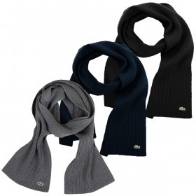 Lacoste Unisex RE4212 Plain Wool Scarf