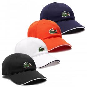 Lacoste Mens 2020 RK5400 Curved Peak Adjustable Strap Crocodile Baseball Cap