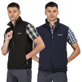 Regatta Mens 2020 Bradwell III SoftShell Water Repellent Gilet