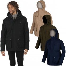 Regatta Mens Penley Waterproof Durable Hooded Insulated Jacket