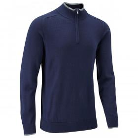 Stuburt Mens Vapour Casual Zip Neck Sweater - Midnight - S