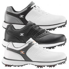 Stuburt Golf Mens 2021 Evolve Tour II Spiked Leather Waterproof Golf Shoes