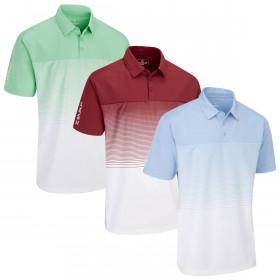 Stuburt Golf Mens 2020 Evolve Dalton Breathable Wicking Stripe Golf Polo Shirt