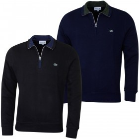 Lacoste Mens 2019 Rib Interlock 1/2 Zip Sweater