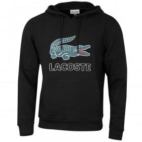 Lacoste Mens Croc Print Fleece Hoody