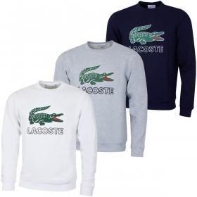 Lacoste Mens 2019 Croc Print Fleece Sweater