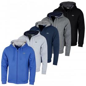 Lacoste Mens 2020 Tennis Hooded Side Pockets Sweatshirt Hoodie