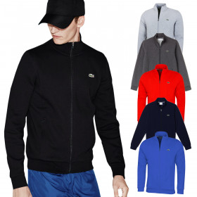 Lacoste Mens 2020 Zip Up Durable Sport 2 Pocket Fleece Sweatshirt Sweater