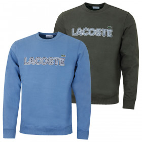 Lacoste Mens Crew Neck Signature Fleece Classic Sweater
