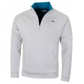 Lacoste Mens 2019 Half Zip Brushed Fleece Sweater