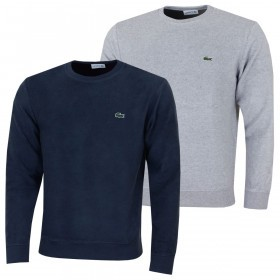 Lacoste Mens Crew Neck Cotton Terry And Cashmere Sweatshirt
