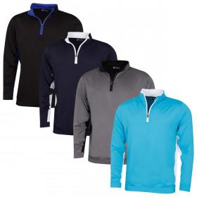 Sunderland Mens Golf Vallon Midlayer Half Zip Lightweight Sweater