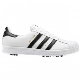adidas Golf Mens 2020 Superstar Spiked 3-Stripes Soft Leather Golf Shoes