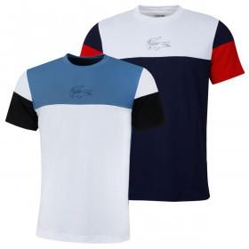 Lacoste Mens 2019 Tennis Pique Block T-Shirt