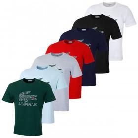 Lacoste Mens 2019 Graphic Jersey Print Croc T-Shirt