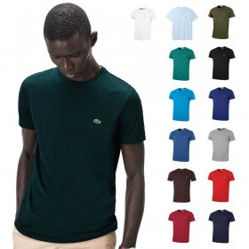 Lacoste Mens SS Crew Neck Pima Cotton T-Shirt