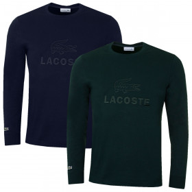 Lacoste Mens 2019 Tone-On-Tone Embroidery Cotton T-Shirt