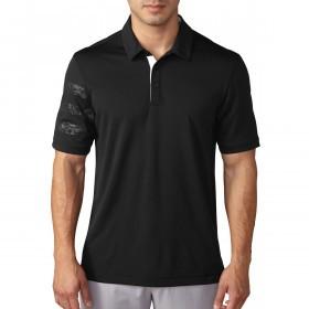 adidas Golf Mens ClimaChill Deboss Camo Competition Polo Shirt