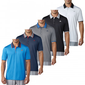 adidas Golf Mens Climacool Performance LC Logo Polo