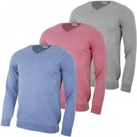 Ukko Mens Mayfield V Neck Merino Wool Golf Sweater