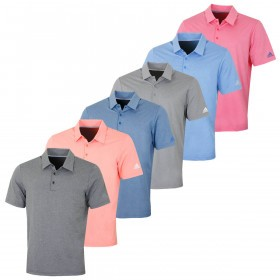 adidas Golf Mens Ultimate 2.0 Heather Polo Shirt