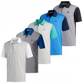 adidas Golf Mens Ultimate365 Camo-Embossed Polo Shirt