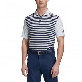 adidas Golf Mens Ultimate 3-Colour Merch Stripe Stretch Polo Shirt