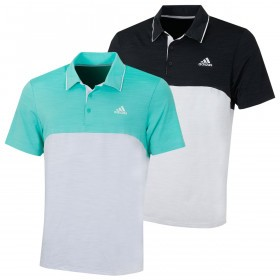 adidas Golf Mens 2019 Ultimate365 Heather Chest Logo Polo Shirt