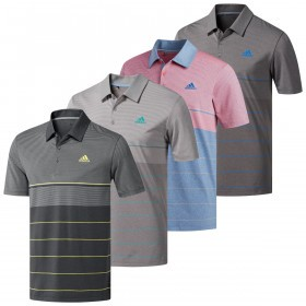 adidas Golf Mens Ultimate365 Heather Stripe Polo Shirt