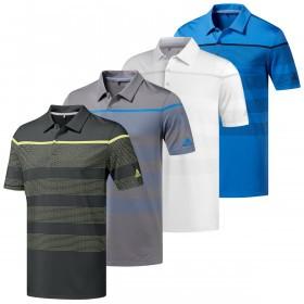 adidas Golf Mens Ultimate365 Dash Stripe Polo Shirt
