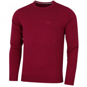 Wolsey Mens Crew Neck Pullover Tonal Logo Golf Sweater