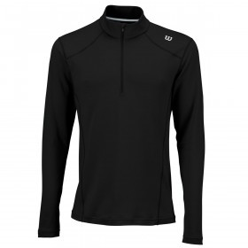 Wilson Sport Mens Nvision Zip Neck Long Sleeve Top Tennis Layer
