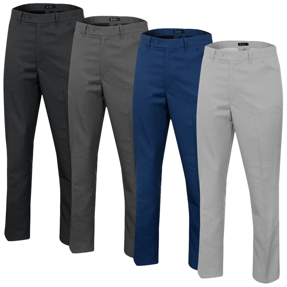 Island Green Breathable Tapered Slim Fit Mens Golf Trousers